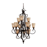 Feiss Russell 12 Light Chandelier in Pecan F2551/12PCN photo thumbnail