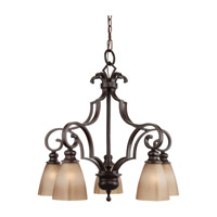 Feiss Russell 5 Light Chandelier in Pecan F2553/5PCN