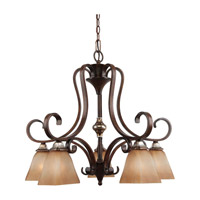 Feiss Catania 5 Light Chandelier in Mediterranean Crackle F2559/5MCR photo thumbnail