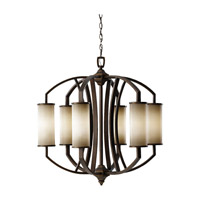 Feiss Logan 6 Light Chandelier in Pecan F2564/6PCN