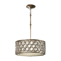 Feiss Lucia 3 Light Shade Pendant in Burnished Silver F2568/3BUS-F