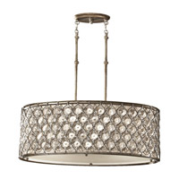 Feiss Lucia 3 Light Shade Pendant in Burnished Silver F2569/3BUS-F