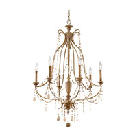 Feiss Simone 6 Light Chandelier in Driftwood F2575/6DRFW photo thumbnail