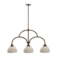 Feiss Perry 3 Light Linear Chandelier in Heritage Bronze F2581/3HTBZ