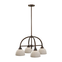 Feiss Perry 4 Light Chandelier in Heritage Bronze F2582/4HTBZ
