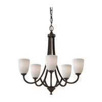 Feiss Perry 5 Light Chandelier in Heritage Bronze F2584/5HTBZ