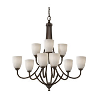 Feiss F2585/6+3HTBZ Perry 9 Light 33 inch Heritage Bronze Chandelier Ceiling Light photo thumbnail