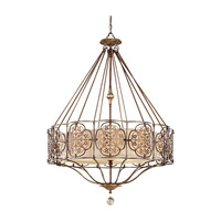 Feiss Marcella 4 Light Chandelier in British Bronze and Oxidized Bronze F2603/4BRB/OBZ