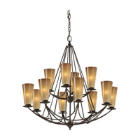 El Nido 12 Light 32 inch Mocha Bronze Chandelier Ceiling Light