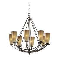 El Nido 8 Light 28 inch Mocha Bronze Chandelier Ceiling Light