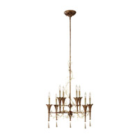 Feiss Amelia 8 Light Chandelier in Silver Leaf Patina and Oxidized Bronze F2610/8SLP/OBZ