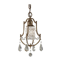 Valentina 1 Light 8 inch Oxidized Bronze Mini Chandelier Ceiling Light in Standard