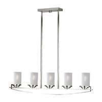 Feiss Finley 5 Light Linear Chandelier in Polished Nickel F2634/5PN