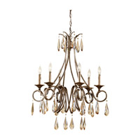 Feiss F2636/6GIS Reina 6 Light 26 inch Gilded Imperial Silver Chandelier Ceiling Light photo thumbnail