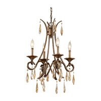 Reina 4 Light 17 inch Gilded Imperial Silver Chandelier Ceiling Light