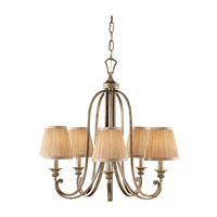 Feiss Abbey 5 Light Chandelier in Silver Sand F2642/5SVSD