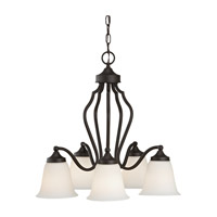 Feiss Beckett 5 Light Chandelier in Oil Rubbed Bronze F2648/5ORB photo thumbnail