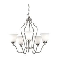 Feiss Beckett 5 Light Chandelier in Brushed Steel F2650/5BS