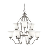 Feiss Beckett 9 Light Chandelier in Brushed Steel F2651/6+3BS photo thumbnail