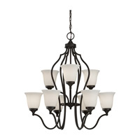 Feiss Beckett 9 Light Chandelier in Oil Rubbed Bronze F2651/6+3ORB photo thumbnail