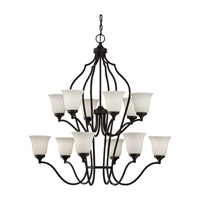 Feiss Beckett 12 Light Chandelier in Oil Rubbed Bronze F2652/6+6ORB photo thumbnail