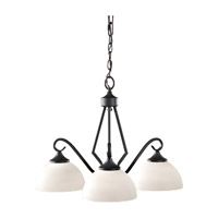 Feiss Merritt 3 Light Chandelier in Black F2655/3BK photo thumbnail