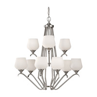 Feiss Merritt 9 Light Chandelier in Brushed Steel F2656/6+3BS photo thumbnail