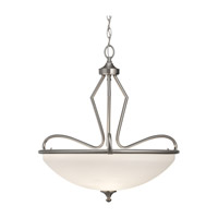 Feiss Merritt 3 Light Pendant in Brushed Steel F2658/3BS