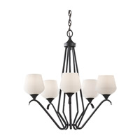 Feiss Merritt 5 Light Chandelier in Black F2659/5BK