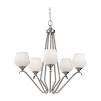 Feiss Merritt 5 Light Chandelier in Brushed Steel F2659/5BS photo thumbnail