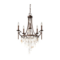 Cascade 5 Light 21 inch Heritage Bronze Chandelier Ceiling Light