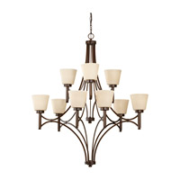 Feiss Nolan 9 Light Chandelier in Heritage Bronze F2671/6+3HTBZ