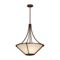 Nolan 3 Light 21 inch Heritage Bronze Pendant Ceiling Light in Standard