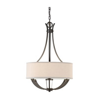 Feiss Brody 3 Light Chandelier in Colonial Iron F2675/3CI