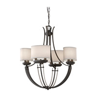Feiss Brody 8 Light Chandelier in Colonial Iron F2676/8CI