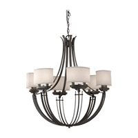 Feiss Brody 12 Light Chandelier in Colonial Iron F2677/12CI photo thumbnail