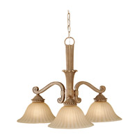Feiss Blaire 3 Light Chandelier in Medium Aged Wood F2678/3MAW
