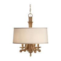 Feiss Blaire 4 Light Chandelier in Medium Aged Wood F2679/4MAW photo thumbnail