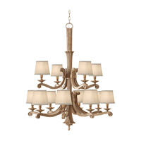 Feiss Blaire 12 Light Chandelier in Medium Aged Wood F2682/8+4MAW photo thumbnail