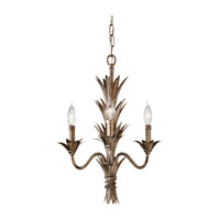 Feiss Flora 3 Light Mini Chandelier in Stardust F2685/3STA