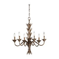 Feiss Flora 6 Light Chandelier in Stardust F2686/6STA