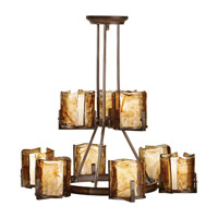 Feiss Aris 9 Light Chandelier in Stardust F2687/6+3RBZ photo thumbnail