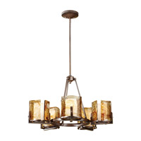 Feiss F2689/5RBZ Aris 5 Light 28 inch Roman Bronze Chandelier Ceiling Light