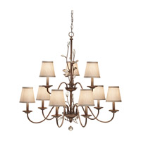 Feiss Priscilla 9 Light Chandelier in Arctic Silver F2696/6+3ARS photo thumbnail