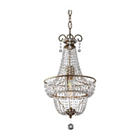 Feiss Dutchess 1 Light Chandelier in Burnished Silver F2709/1BUS-AL