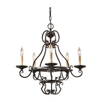 Feiss Barnaby 5 Light Chandelier in Liberty Bronze F2715/5LBR photo thumbnail