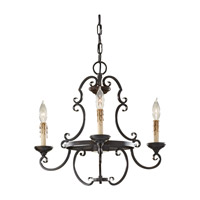 Feiss Barnaby 3 Light Mini Chandelier in Liberty Bronze F2716/3LBR