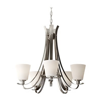 Feiss Spectra 5 Light Chandelier in Brushed Steel F2719/5BS photo thumbnail