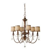 Clarissa 6 Light 32 inch Firenze Gold Chandelier Ceiling Light