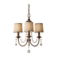 Clarissa 3 Light 19 inch Firenze Gold Mini Chandelier Ceiling Light